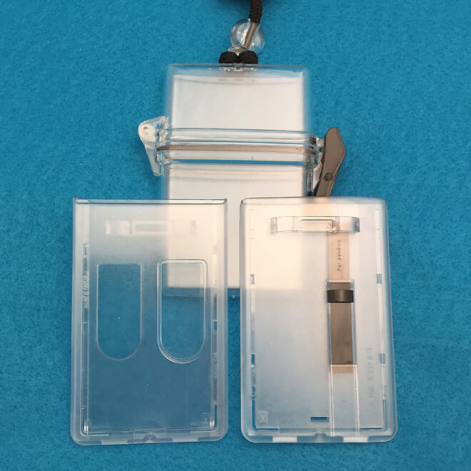 ID Card Dispensers, Rigid Badge Holders