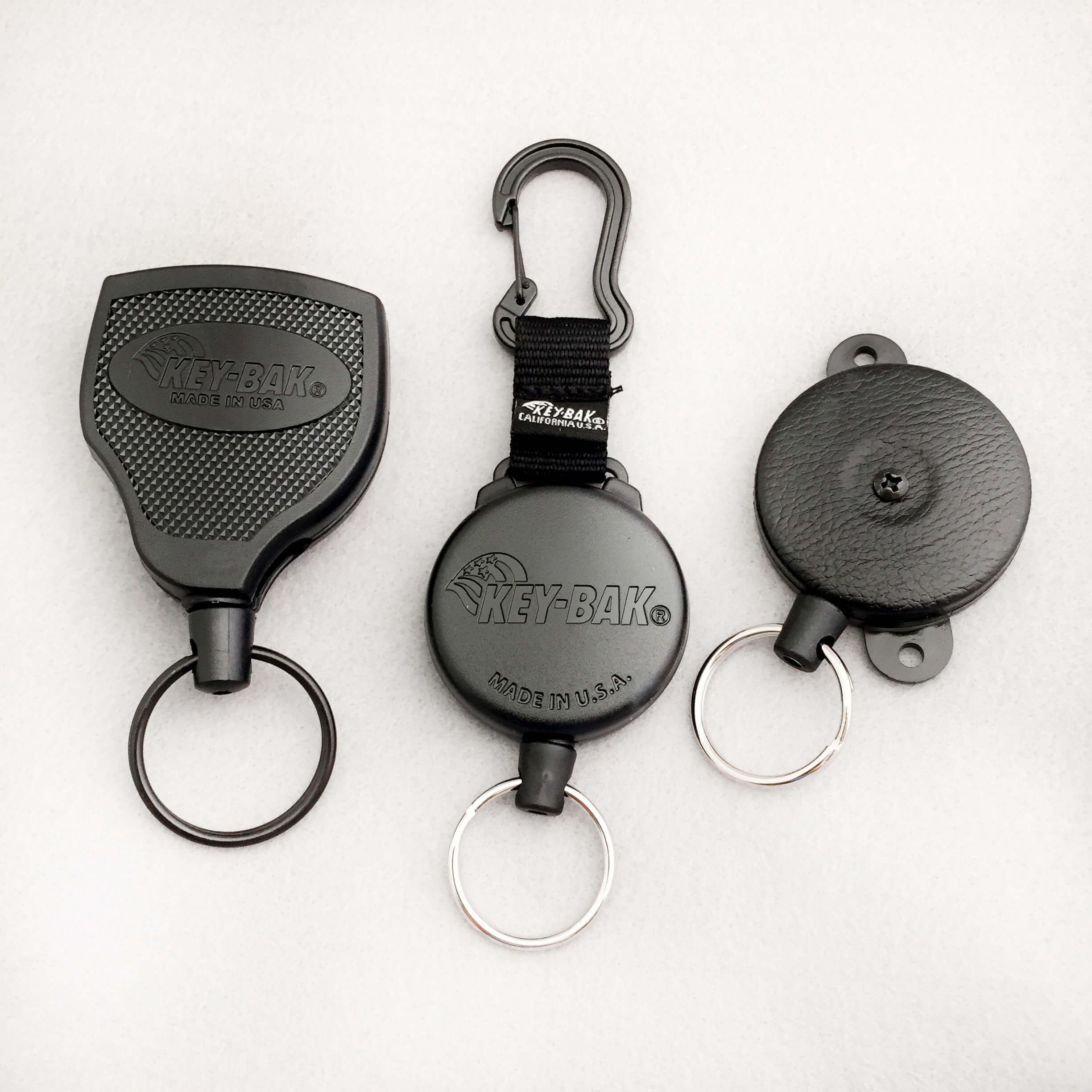 Key-Bak Retractors, Heavy Duty badge reels