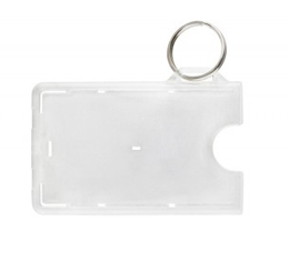 Key Ring ID Card Holder 706-RNG - Horizontal Frosted Plastic