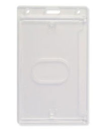 ID Card Dispenser 726-CSN - Side Load Vertical - Thumb Notch Clear Plastic