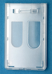 ID Badge Dispenser - Premium <b>Two Card</b> Access Card Dispenser - (V)