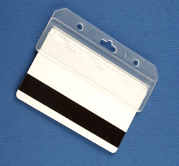 Half Card Retainer 1840-8000 - Magstripe Badge Holder