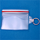 Zipper Closure ID badge holder with key ring attachment