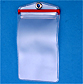 PVC Badge Holder with Zipper Closure and Grommet