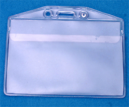 Badge Holder 506-32FS with Flap - Credit Card Size Horizontal - Weatherproof