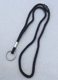 Breakaway Lanyard - Round Cord with Split Ring - Closeout Item