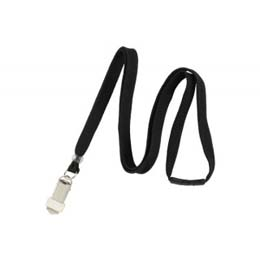 Breakaway Lanyard with Card Clamp BL-34K6 - 3/8 Flat Cord - 100 Pack