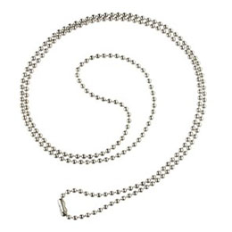 Beaded Neck Chain with nickel plated steel beads, 30 inches