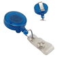 Round Badge Retractor with Vinyl Strap and Slide Clip, Translucent Colors