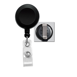 Badge Reel Economy, Round with vinyl strap - solid colors RE-11A