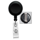 ID Badge Reel round with Vinyl Strap and Slide Clip, Solid Colors