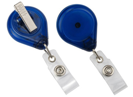 Badge Reel 609-TR  - Premium Translucent with Strap and Swivel Clip - 25 Pack